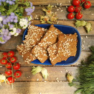FLAX CRACKERS WITH SUNFLOWERS SEEDS