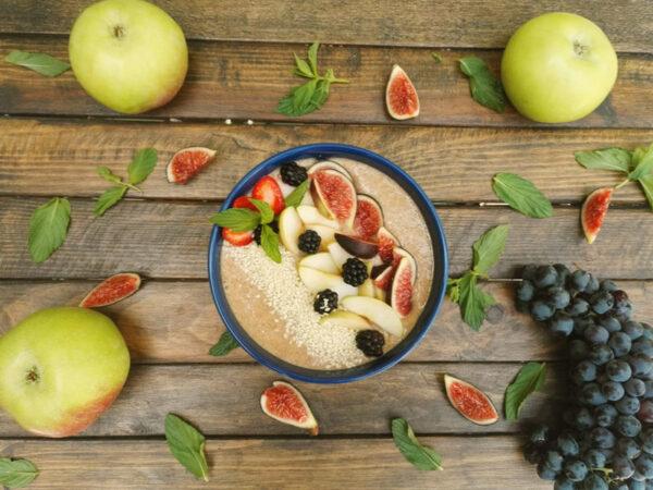 Կտավատի շիլա խնձորով և դարչինով